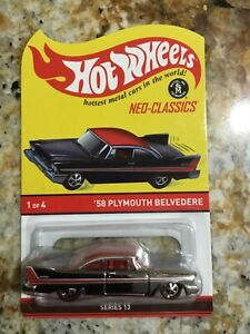 2014 hot wheels neo-classics 58 Plymouth Belvedere 466/3000 low #