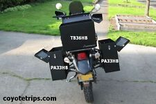Motorcycle Aluminum Pannier, 47 liters, Black, Hinged Lid; BMW GS, KLR, Tenere