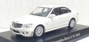 1/64 Kyosho MERCEDES BENZ C63 AMG WHITE diecast car model