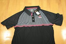 Ektelon TEAM POLO T-SHIRT  DRY-FIT BLACK/RED/GREY  SIZE MENS L LARGE