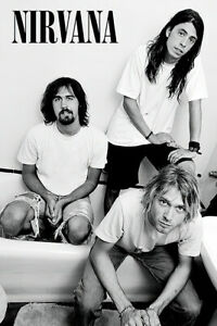"Nirvana - Music Poster (Dave Grohl, Kurt Cobain & Krist) (Bathroom) (24"" x 36"")"
