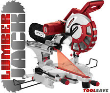 "12"" Compound Sliding Mitre Saw with Laser 240v +45°/-45° DOUBLE BEVEL Cut 305mm"