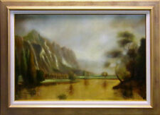 Azarin Paisaje(Landscape) Original Oil Painting with New Custom Frame H.Signed
