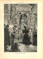 Madone Saint-Augustin Basilique Sant'Agostino in Campo Marzio Rome GRAVURE 1897
