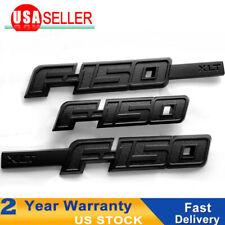 3x OEM Black F150 Badge Fender Emblems W 3D Rear Ford F-150 XLT Matt 9L3Z16720CB