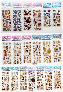 HOT New Products 10PCS Stickers 3d Cartoon Children Scrapbook School Reward Gift