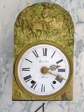 Pendule horloge comtoise scène de labour d'époque 19ème