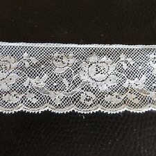 Antique Vintage COTTON LACE, England. New over 70 years old ,1m x 42 mm wide,