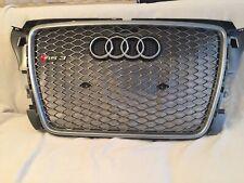 Kühlergrill Waben Grill Audi A3-RS 3 8P Neu In Silbergun Metallic Original RS3