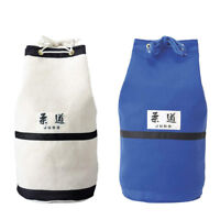 KUSAKURA Judo Bag Round Drawstring Big Durable Bag White Blue