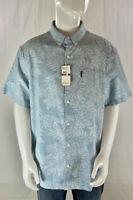 Original Penguin Shirt Size 2XL XXL Hawaiian Mens Short Sleeve Button Up NWT