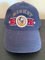 Disney World Mickey Mouse 1928 Adjustable Baseball Hat Cap