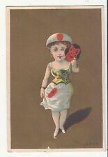Haskell & McFarland Fruits Nuts Confectionery Portland ME JAPAN Vict Card c1880s