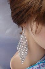 Orecchini Argento strass cristalli cerimonia ELEGANTE  Moda donna ,idea regalo