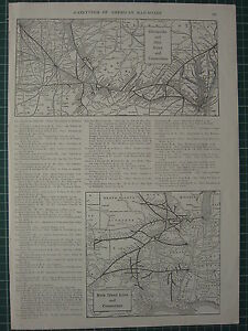 1926 MAP ~ CHESAPEAKE & OHIO LINES & CONNECTIONS ~ ROCK ISLAND LINES