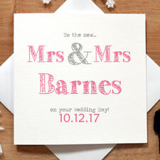 Personalised Handmade Mrs & Mrs Wedding Day Card - Gay, Same Sex, Lesbian