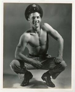 Chuck Renslow 1960 Beefcake 8x10 Photo USAF Nude Male Gay Physique Uniform J7235