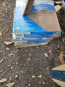 Hevea  Hardwood Parquet  4 Boxes 39 SQ FT 12x12 CHESTNUT T&G #53578  Description