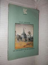 LE GIORNATE DI SODOMA Volume Primo D A F de Sade Angelo Fiocchi Guanda 1979 I ed