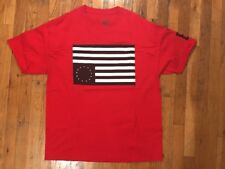 Black Scale Flag T-Shirt (Men's Size XL) Red Black SSUR Hundreds Diamond Rebel