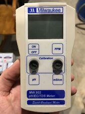 Milwaukee MW802 Digital pH EC TDS ppm COMBO Portable Meter Tester Instruments