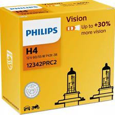 Philips Vision H4 bis zu 30% mehr Licht Premium Halogenlampe 12342PRC2 2er Pack