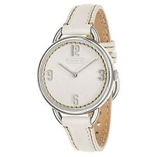 Coach 14501806 Whitney White Leather Strap Women's Watch $228 ~ GREAT GIFT