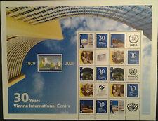 """Eiamaya UNO Wien 6 Grussmarken 30Jahre UnoCity 2009 Postfrisch Gratisversand """"A"""""""