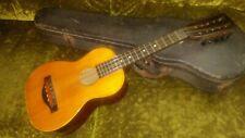 Vintage 10 String Tiple Ukulele Guitar Instrument Harmony Other w/Old Case!