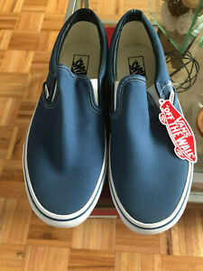 "Brand New Vans ""Classic Slip-On"" Sneakers Navy Men's 10.5 Unisex"
