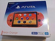 PS Playstation vita Wi-Fi model NEON ORANGE PCH-2000 ZA24 with box Japan