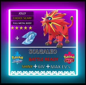 Pokemon Sword & Shield Shiny 6IV Solgaleo! MAX EV 6IV! BRAND NEW! jirachi Celebi