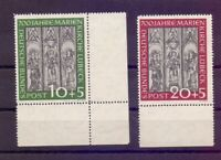 Bund 1951 - Marienkirche - MiNr.139/140 postfr.** Rand- Michel 220,00 € (306)