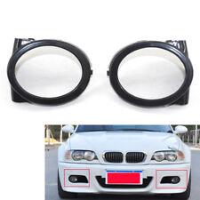 Car Fog Light Trim Ring Cover Fit for BMW E46 M3 01-06 Black Bumper