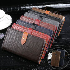Luxury Crocodile Pattern Leather Card Holder Wallet Flip Cover For LG New Phones