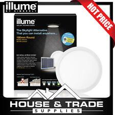Illume Skylight Alternative 180mm Round Roof Solar WHITE FRAME KIS1010