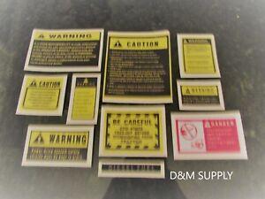 Tractor caution decal kit to fit Kubota John Deere Case IH