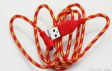 Red USB 2.0 charging cable for Android (Samsung, Motorolla, HTC etc) 3Ft (USA)
