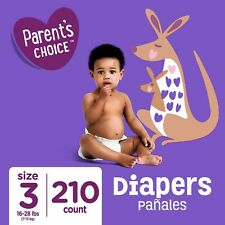 Toddler Diapers Parents Choice Baby Size 3 210Ct Mega Box CHEAP Compare Pampers