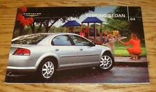 Original 2004 Chrysler Sebring Sedan Deluxe Sales Brochure 04
