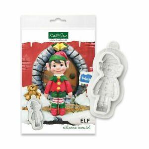 Elf Sugarcraft Mould Katy Sue Silicone Christmas Mould