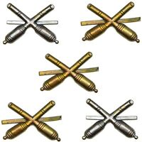 5 New CZSL Missile Pins, Artillery Pins, Crossed Cannons Badges, Shoulder pins