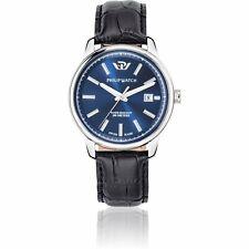 Orologio Philip Watch Kent r8251178008 uomo watch Pelle Nero blu datario