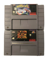 WWF Raw + Uniracers SNES (Super Nintendo Games) Vintage & Tested!