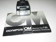 VINTAGE CAMERA ELECTRONIC FLASH - OLYMPUS T-20 W/MANUAL  - EXC - G16