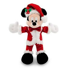 "DISNEY PARKS AUTHENTIC ORIGINAL 7"" HOLIDAY SPARKLE MICKEY MOUSE PLUSH W/GIFT TAG"