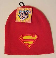 Super Girl Red Logo Beanie Hat Acrylic Fun Hat Super Girl One Size DC Comics