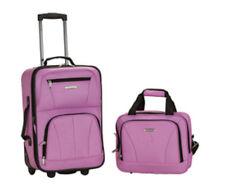 Rockland 2 PC LUGGAGE SET F102-PINK Luggage Set NEW
