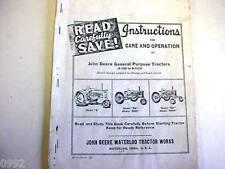 John Deere General Purpose Tractor Manual Unstyled