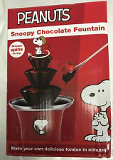 Peanuts Snoopy Chocolate Fountain Machine with Spinning Flying Ace Snoopy New
